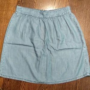 MADEWELL Size 6 Chambray Skirt